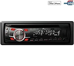 PIONEER Autoradio CD / MP3 / USB DEH-3300UB + Câble auxiliaire - jack 3,5 mm .