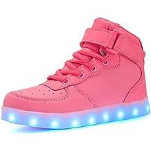 bevoker Zapatos Luminosos de LED Brillantes Para Niños Niñas USB Recargables