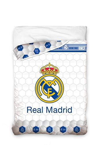 Asditex EDREDON Cama 90 cm Modelo Real Madrid C.F