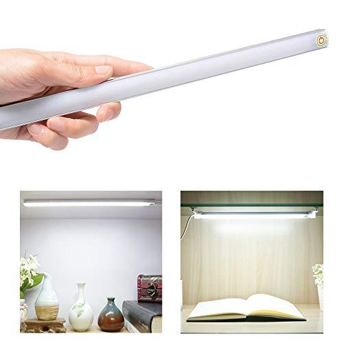 HNZZN Ultradünne USB-Touch-Sensor-Schalter Dimmbare LED-Küche Unter Kabinett Licht Kit Bar Lampe Kleiderschrank Wand Schreibtisch Tischbeleuchtung Streifen, Weiß