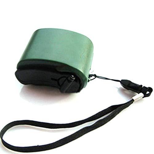 8Eninine Mini Handkurbel USB-Taschenlampe Telefon Ladegerät Strom Generator Ladegerät Grün