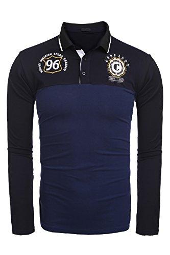 Burlady Herren Poloshirt Langarm T-Shirts Baumwolle Frühling Langarm Golf Shirt Besticktes Logo Knit Polo Shirt für Männer (Diesel-baumwoll-polo-shirt)