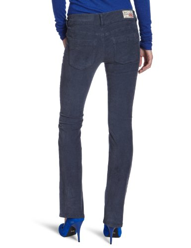 Replay Damen Slim Bootcut Jeans Rearmy VW676 Blau (navy blue 186)