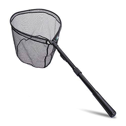 Zite Fishing Spinn-Kescher Gummiert Angeln - Teleskopierbar & Einhand Schnellklapp-Mechanik - Watkescher 113cm