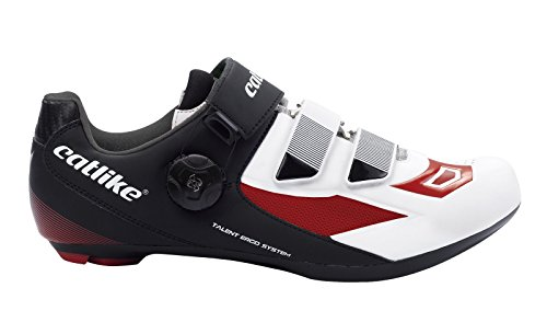 CATLIKE Talent Road 2016, Zapatillas de Ciclismo de Carretera Unisex Adulto, (Negro/Blanco/Rojo 000), 41 EU