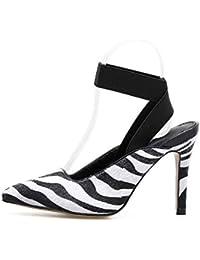 Zapatos MagicXle de tacón Alto para Mujer Zapatos Solos de Ante y otoño con Punta y