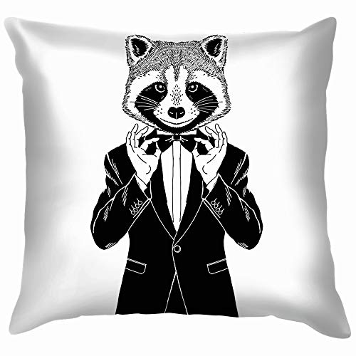 do Adjusting His Bow Animals Wildlife Animal Beauty Fashion Pillow Case Throw Pillow Cover Square Cushion Cover 18X18 Inch ()
