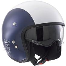 AGV 466PA2B0_009_L Casco para moto cerrado, color blanco y azul, talla L