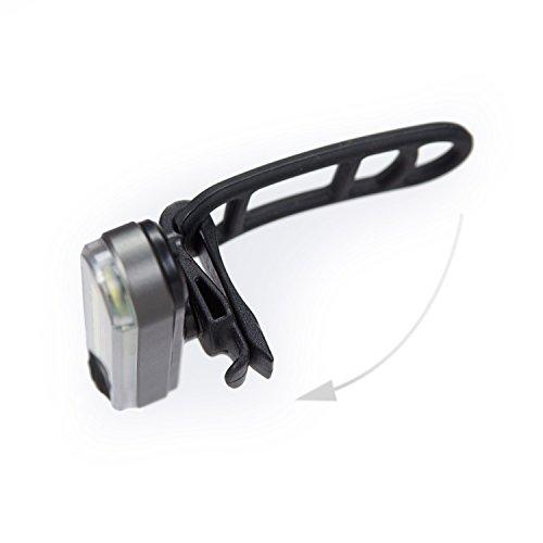 LX2 - Wiederaufladbares Hinterlicht per USB - Aluminium Gehäuse - 5