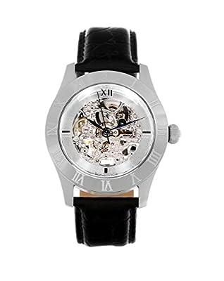 Continuum CO15005B - Reloj analógico de pulsera para hombre (esqueleto mecánico, automático), correa de cuero negra de Continuum