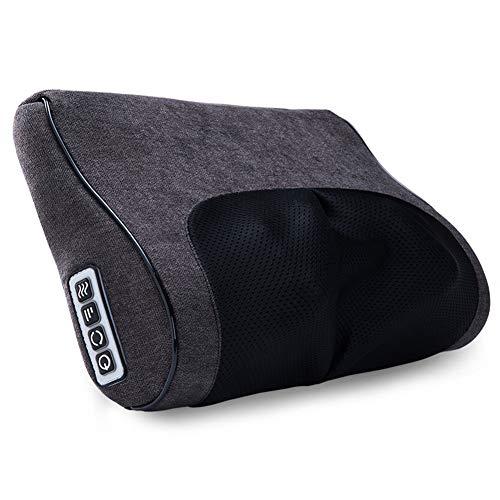 YSCCSY Massagekissen Shiatsu Knetmassagegerät Nackenmassagegerät Kissen Wave Curve Home Auto Dual-Use-Massage gesunde Massagegerät für Schultern