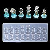 Cuigu Molde de ajedrez International Molde de Silicona Molde de Resina epoxi, Tuercas Arcilla Colgante moldes Adorno de Escritorio