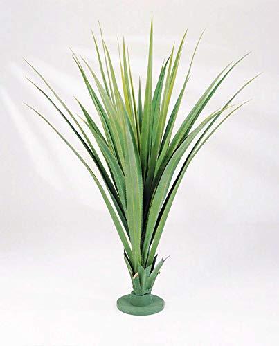 artplants Set 'Kunstpflanze Pandanus + Gratis UV Schutz Spray' - Künstliche Pandanus Palme LINTANG, grün, 140 cm