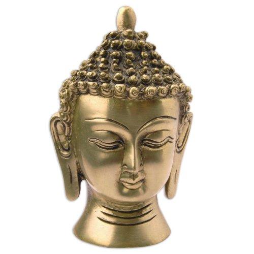 Kopf Statue Lord Buddha Messing Skulptur religiöse dekorative Figuren