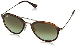 Ray-Ban Gradient Square Unisex Sunglasses - (0RB4253820/A650|49|Green Gradient Brown Color)