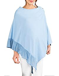 Sweet Mommy Organic Cotton Knit Maternity and Nursing Poncho with Frilled Hem