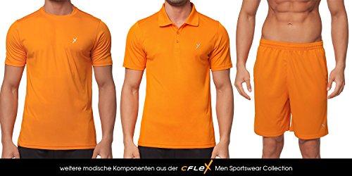 CFLEX Men Sportswear Collection - Herren Funktion Sport Kleidung - Fitness Quickdry Muscle-Shirt & Hemd Fitness Sport Top - Größen S-XXL - Qualität von Celodoro Orange