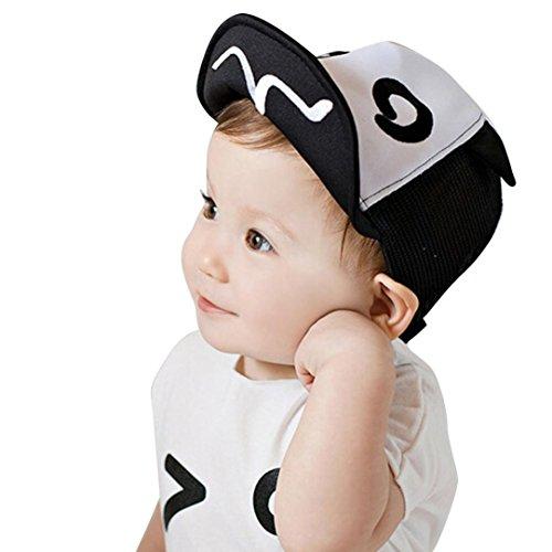 QinMM Kinder Hut Sommer Mesh Soft Krempe Flanging Sonnenhut Baseballmütze Sunhat Jungen Mädchen Sommer Barts Strand Cap (schwarz)