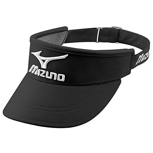 Mizuno Golf Tour Style Hat Réglable Performance Hommes Golf Visor Black/White