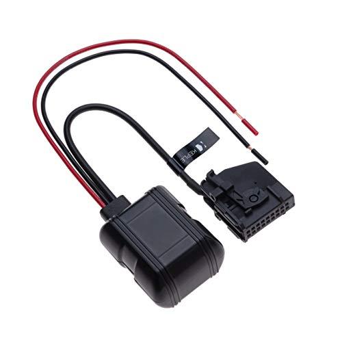 18-poliger 12V-Eingang zur Bluetooth-Musikschnittstelle MP3-Audioadapter Kompatibel mit Mercedes-Benz W168, W202, W203, W208, W209, W211, W461, W463, W163, W164, R129, R170 | Empfänger-Senderanschluss