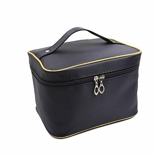 ANNE sacchetto cosmetico sacchetto di immagazzinaggio grande capacità borsa di lavaggio sacchetto bagni di toiletry Donne Black