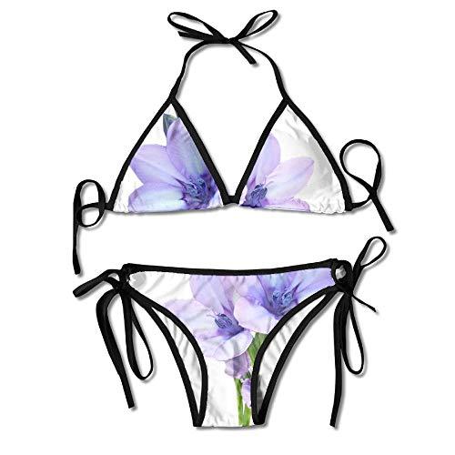 Sexy Triangle Bathing Two Pieces Unique Crocus Bulb Crayon Padded Top Bottom Bikini Badeanzug Zweiteilige Anzüge