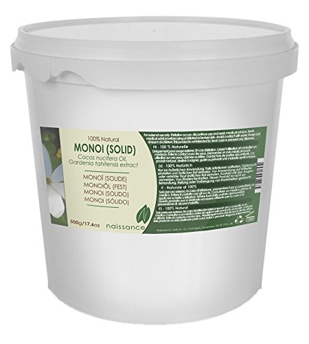 Naissance Olio di Monoi (Solido) - Olio Vegetale Puro al 100% - 500g