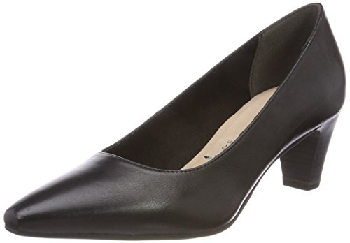 Tamaris Damen 22473 Pumps, Schwarz (Black Leather), 38 EU