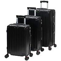 Chalish Luggage Trolley Bags for unisex 3pcs, Black