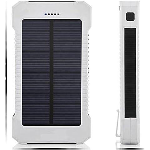 Merssavo 50000mAh-300000mAh Portatile Caricabatteria Solare con 2 Porte USB Power Bank Caricatore Pannello Solare con LED Luce per iPad Cellulare Tablet Fotocamera