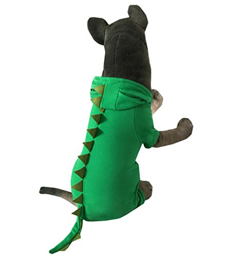 ranphy Dinosaurier Medium Large Hund Katze Kostüm Pet Coat Puppy Pyjama Herbst Puppy Outfits Chihuahua (Anzug 4xl Santa)