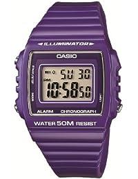Casio W-215H-6AVEF - Reloj digital de cuarzo para hombre con correa de resina, color morado