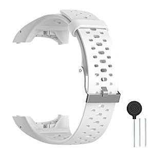 Cyeeson Polar M400/M430 Correa Reloj Silicona Blanda Ajustable Banda de Pulsera de Gel Brazalete de Repuesto para Polar M400/M430