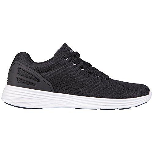 Kappa Trust Footwear Unisex, Baskets Basses mixte adulte Noir (Black/white)