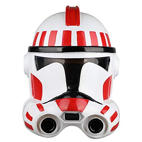 SDKHIN Star Wars White Soldier Maske Stormtrooper Clone Soldier Helm Halloween Film Cosplay Helm Requisiten PVC Masken White-OneSize,White-OneSize