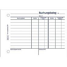 Zweckform Buchungsbelege/309 DIN A6 quer weiß Inh.50 Blatt