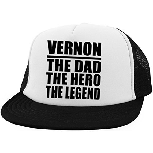 Designsify Vernon The Dad The Hero The Legend - Trucker Hat Fernfahrer-Kappe Golfkappe Baseballkappe - Geschenk zum Geburtstag Jahrestag Muttertag Vatertag Ostern Vernon Serien