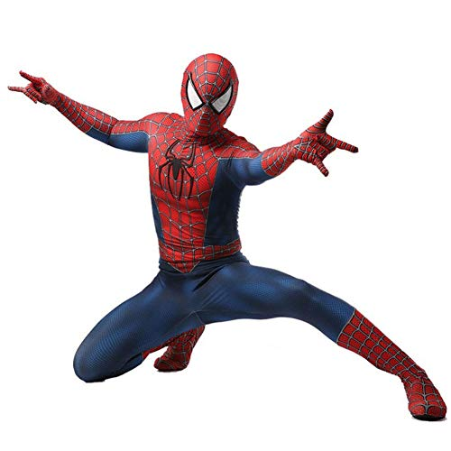 Kyokim spider-man costume cosplay tuta fancy dress party puntelli forniture spiderman suit super hero film per bambini spiderman costume adulto,child-l