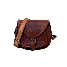 12 Inches Handmade Genuine Leather Ladies Satchel Purse Handbag, Leather Messenger Bag for Women – Free Surprise Gift