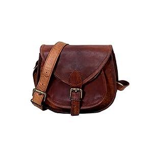 Handmade Genuine Leather Ladies Satchel Purse Handbag