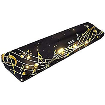 Andoer 88-key Electronic Piano Keyboard Cover Pleuche Fastener Tape Decorated with Fringes