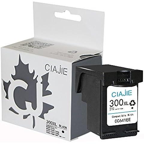 ciajie rigenerate HP 300X L CC641EE Cartuccia d' inchiostro Show livello d' inchiostro nero 1*Black