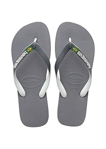 Havaianas Tongs Homme/Femme Brasil Mix Multicolore (Steel Grey/White/White 6820)