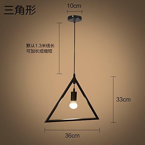 Luckyfree Kreative Modern Fashion Anhänger Leuchten Deckenleuchte Kronleuchter Schlafzimmer Wohnzimmer Küche Dreieck 3W LED Gelb (3 Light-anhänger-dreieck)