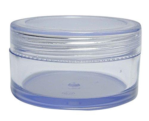 27 Gm Pots En Plastique Transparent Vide Conteneurs De Stockage Cosmétiques Gros Rechargeable Baume Solides Pots De Parfum 16 Pcs