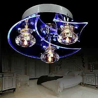 moderne LED Lustre de cristal de lune étoiles plafonnier pour le salon couloir de restaurant