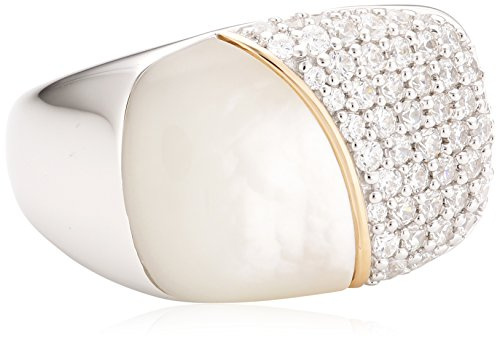 Joop Damen-Ring 925 Sterling Silber Perlmutt Zirkonia Lily weiß Gr.53 (16.9) JPRG90710A530