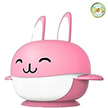 Juego de vajilla de 4 piezas para niños, con diseño infantil de un conejo, con 2 cucharas, de la marca Dotala