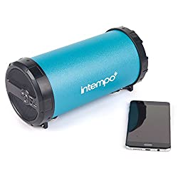 Intempo Ee1274tq Rechargeable Wireless Bluetooth Tube Speaker, Turquoise, 11w