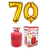 Party Factory Ballongas Helium 420 Liter im Set mit Folienballon 70